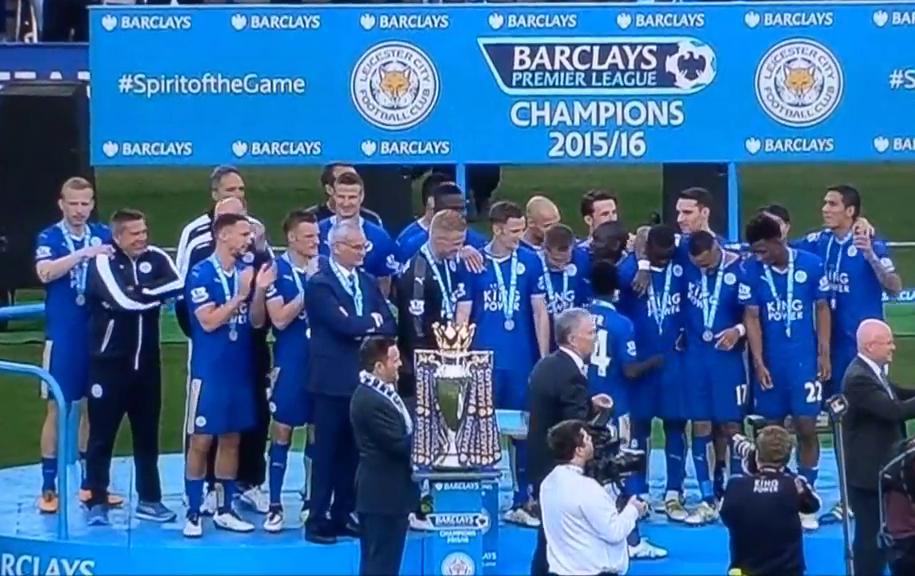 THE FOXES secured the top spot in the 2015-16 Premier League