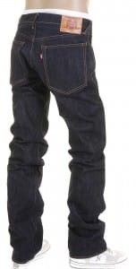Raw Denim Jeans with Slimmer Cut