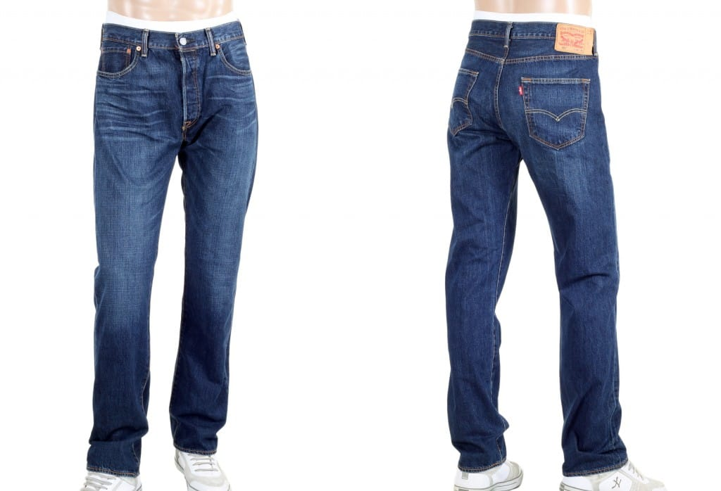 Levis 501 Washed Jeans