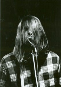 Kurt Cobain wearing a Plaid Shirt