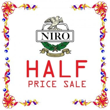 New Year Half Price Sale