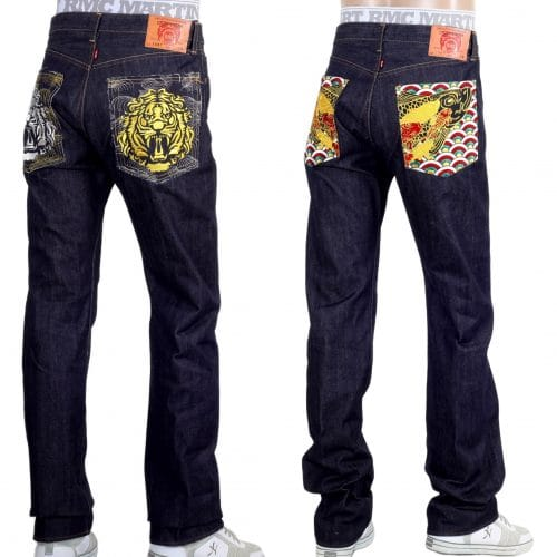 Red Monkey Jeans with Emboidered