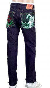 RMC Jeans with Dragon Embroidery