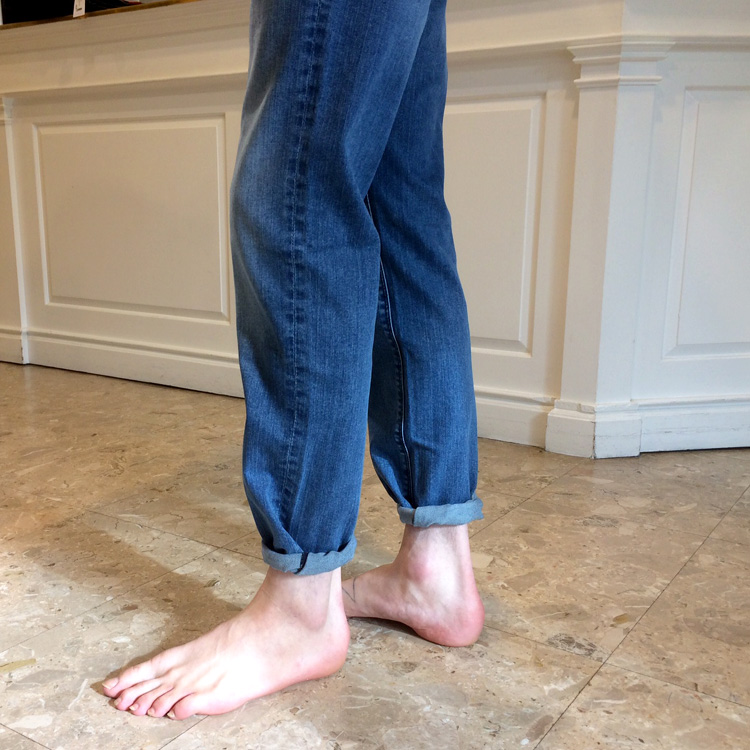 Pin Roll for denim jeans