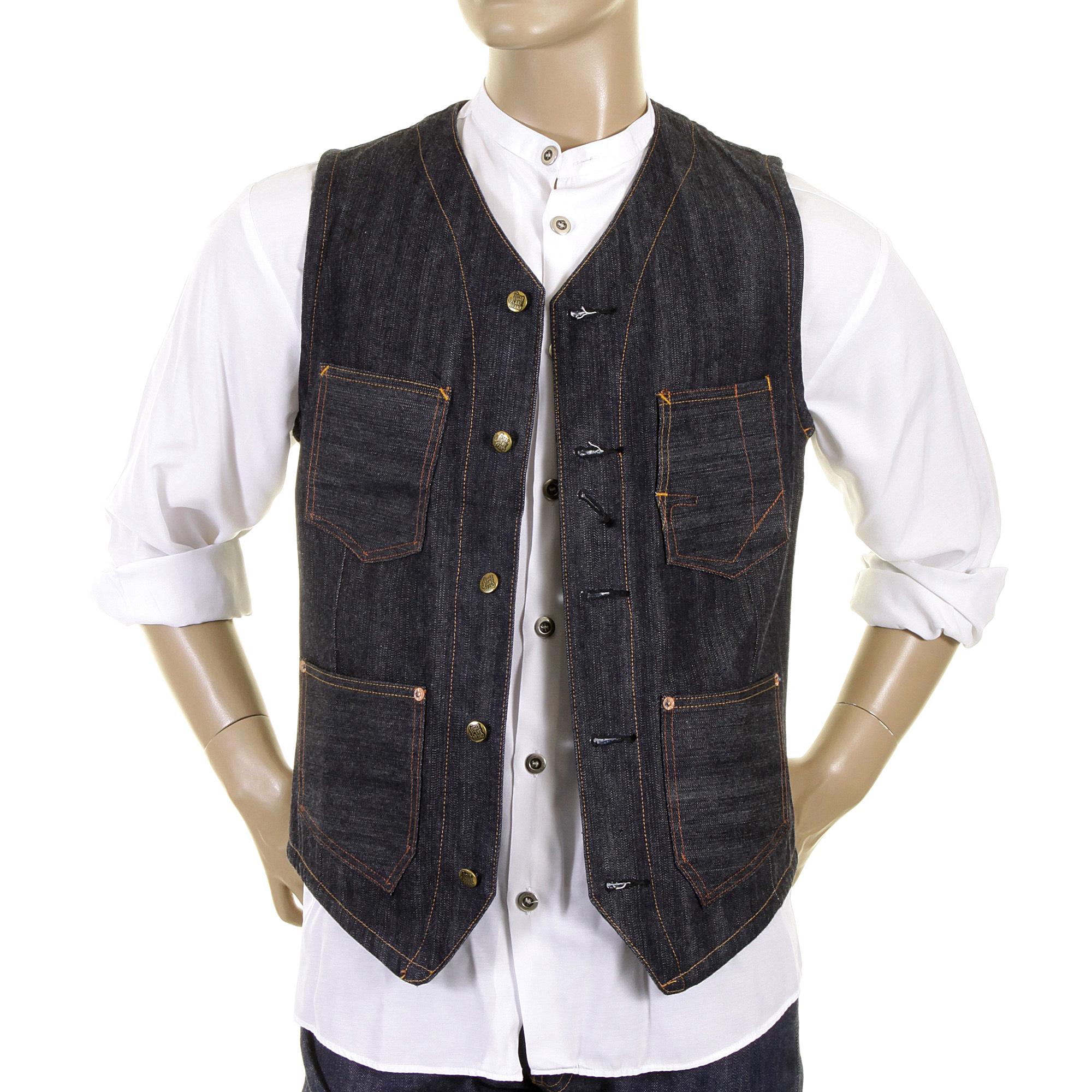 denim waistcoats for men