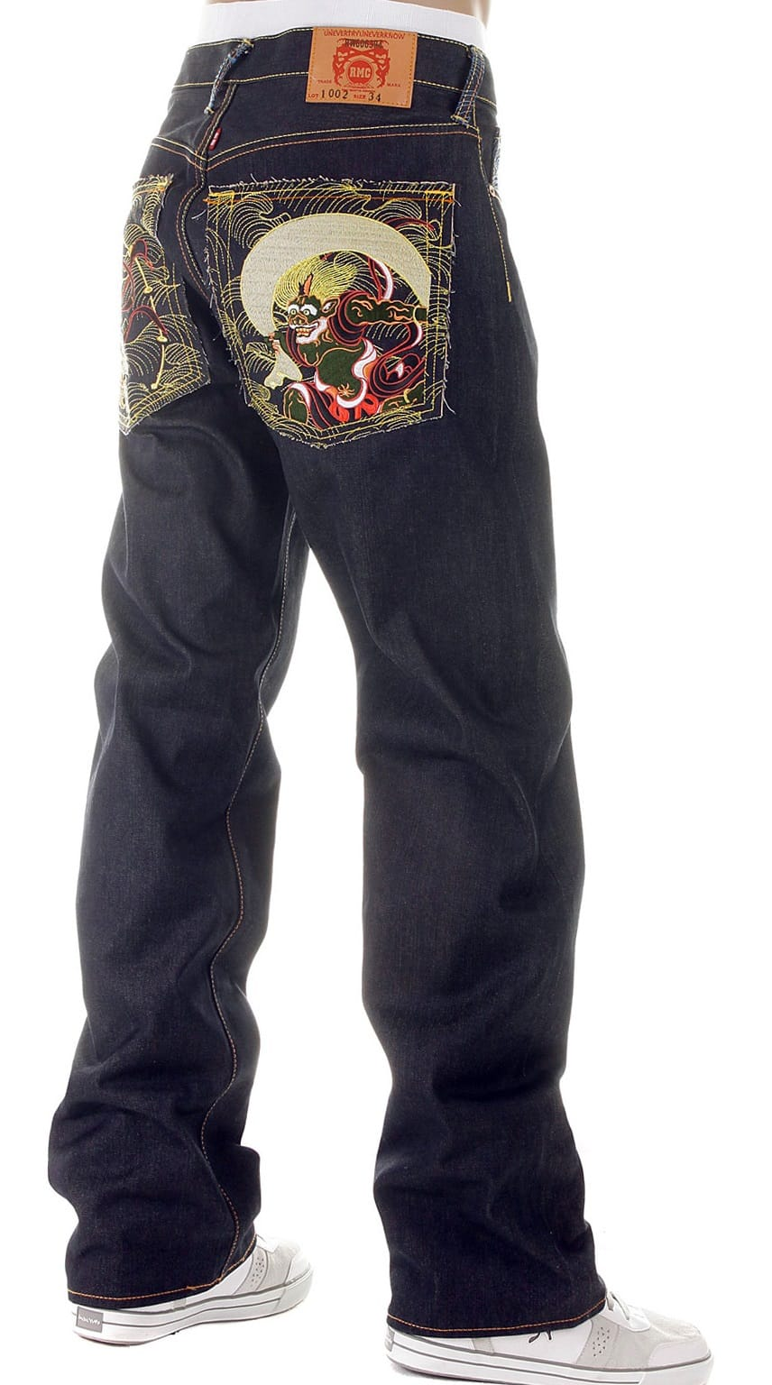 Embroidered RMC denim jeans