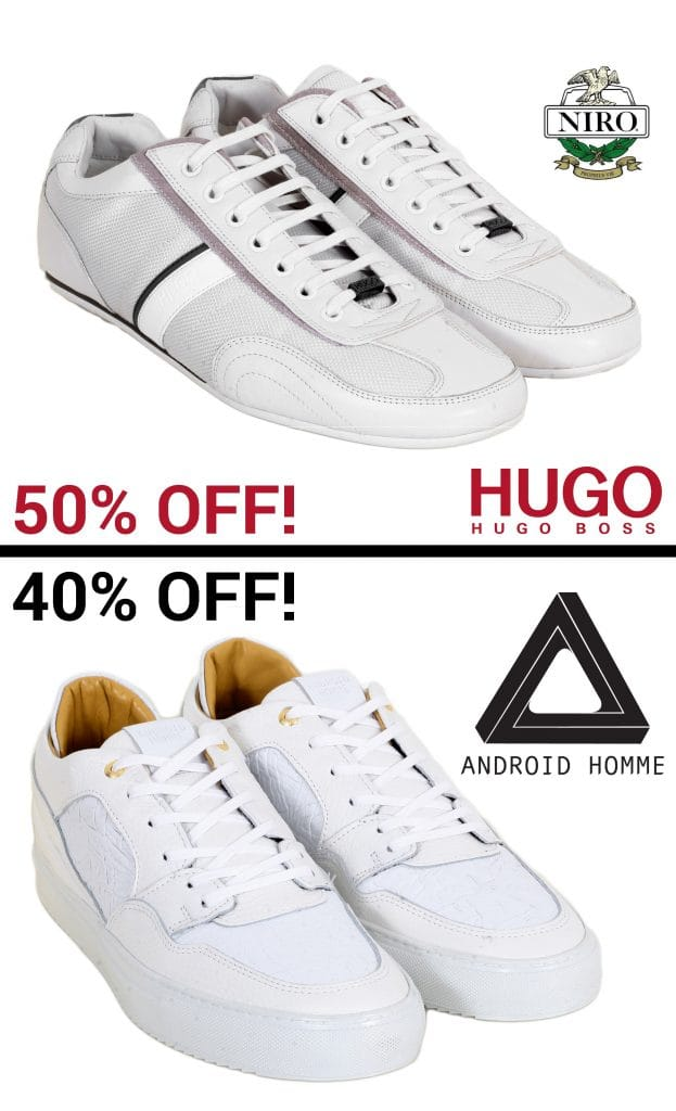 White trainers for men