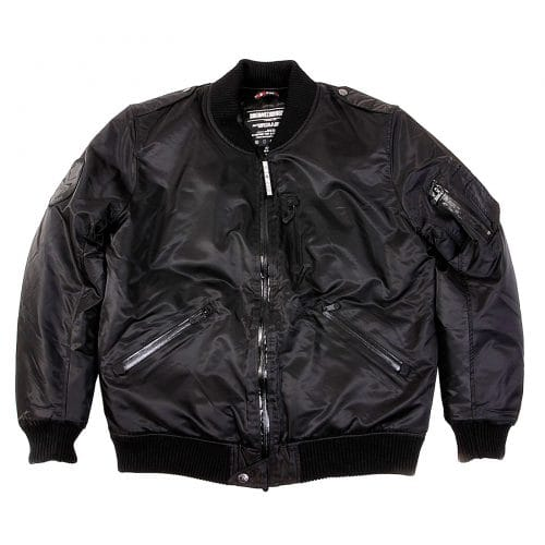 Mens Bomber Jacket in Black