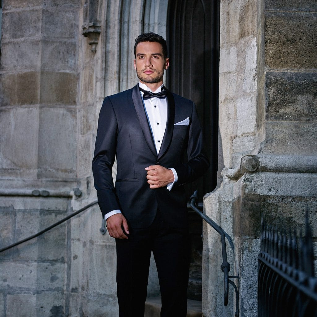 Men's Black Bespoke Suit