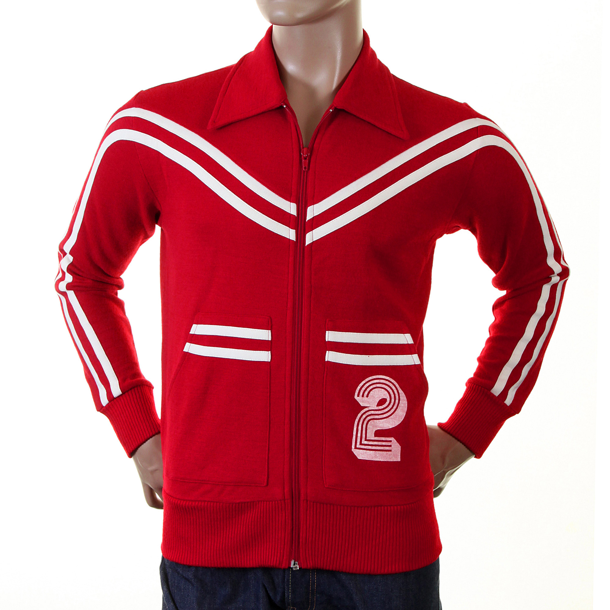 Evisu track Jacket in red