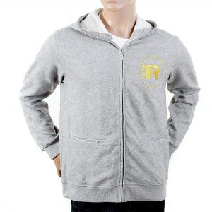 Mens Grey Hooded Jacket