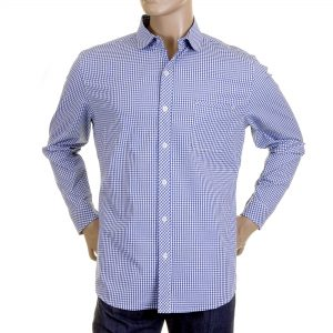 Blue Checked shirts for men