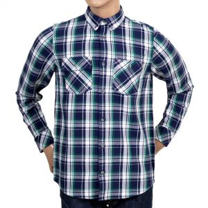 Men's plaid shirt in blue