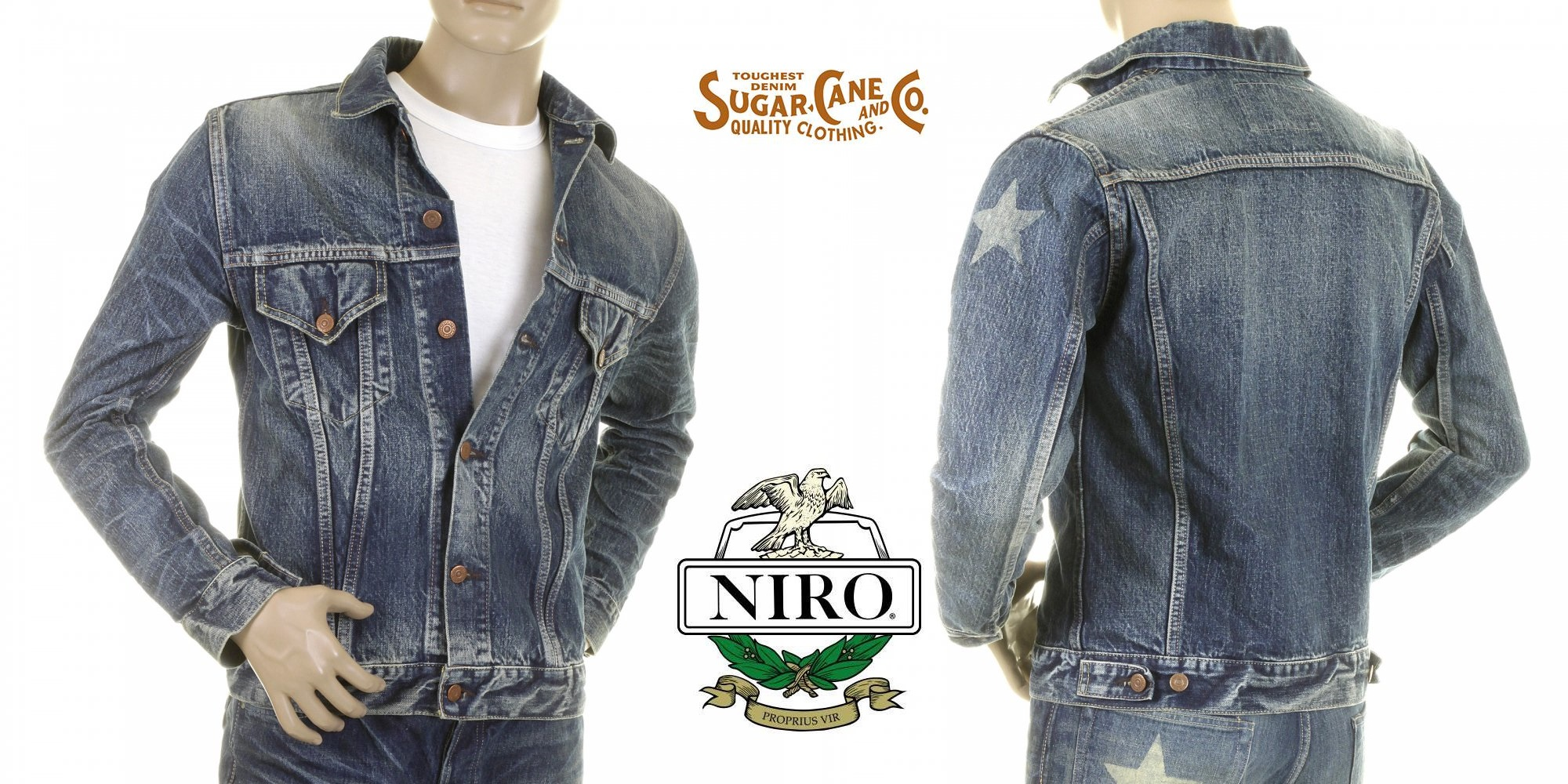 Sugarcane denim jacket