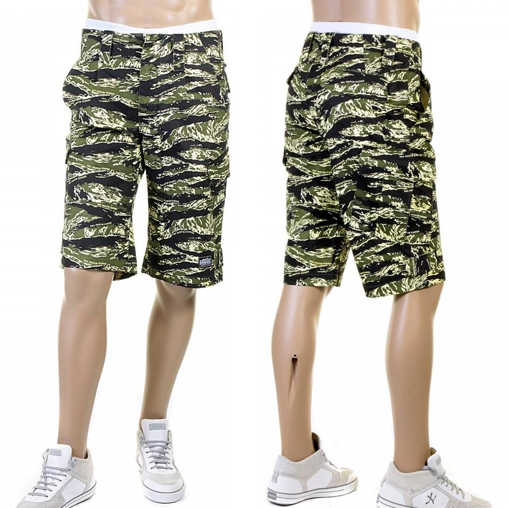 Mens printed shorts in green