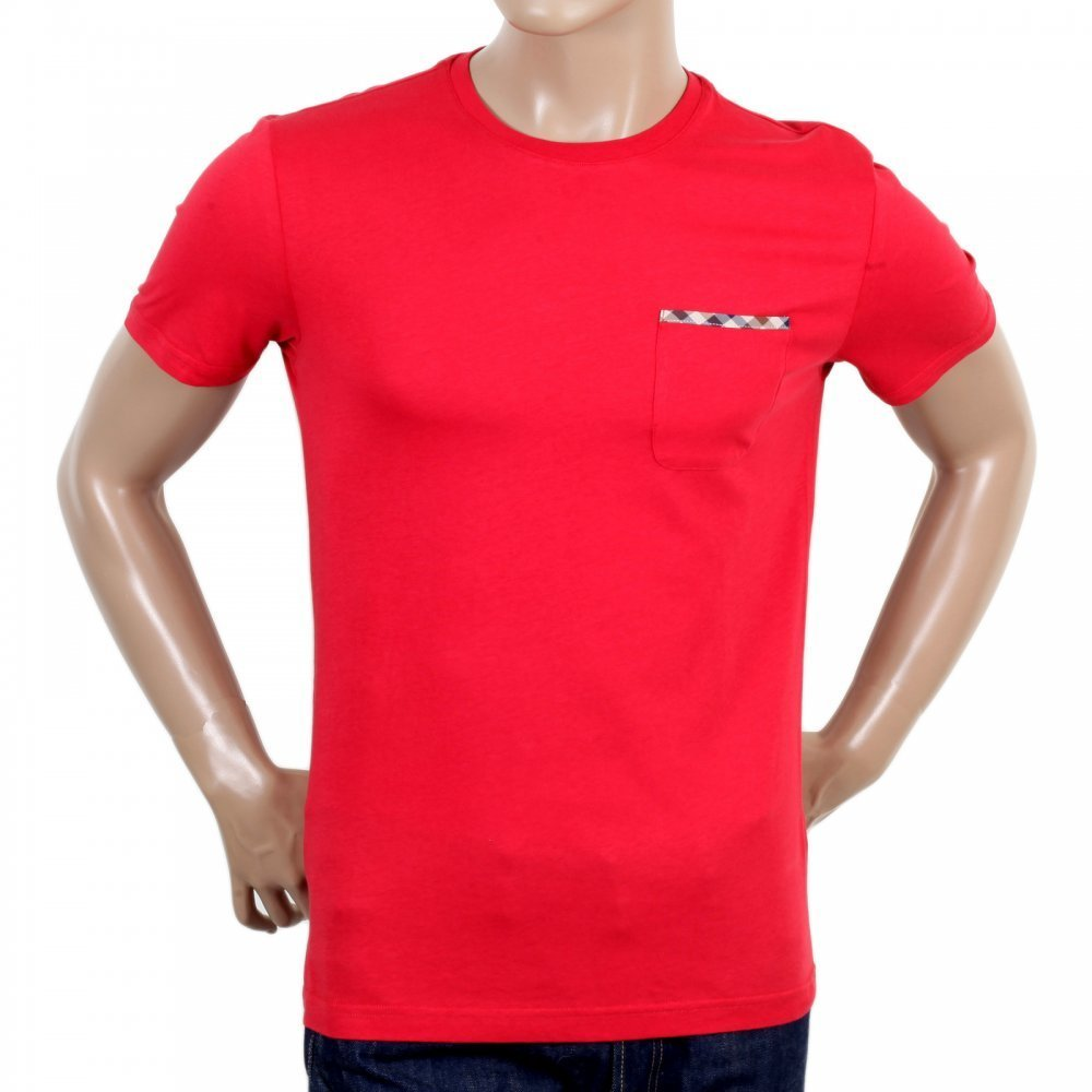 Aquascutum red t-shirt
