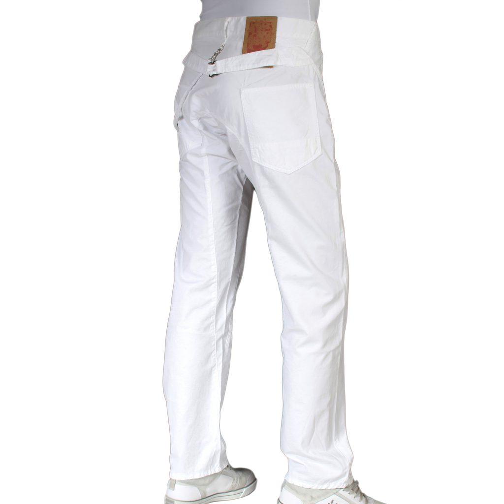 Mens white denim jeans