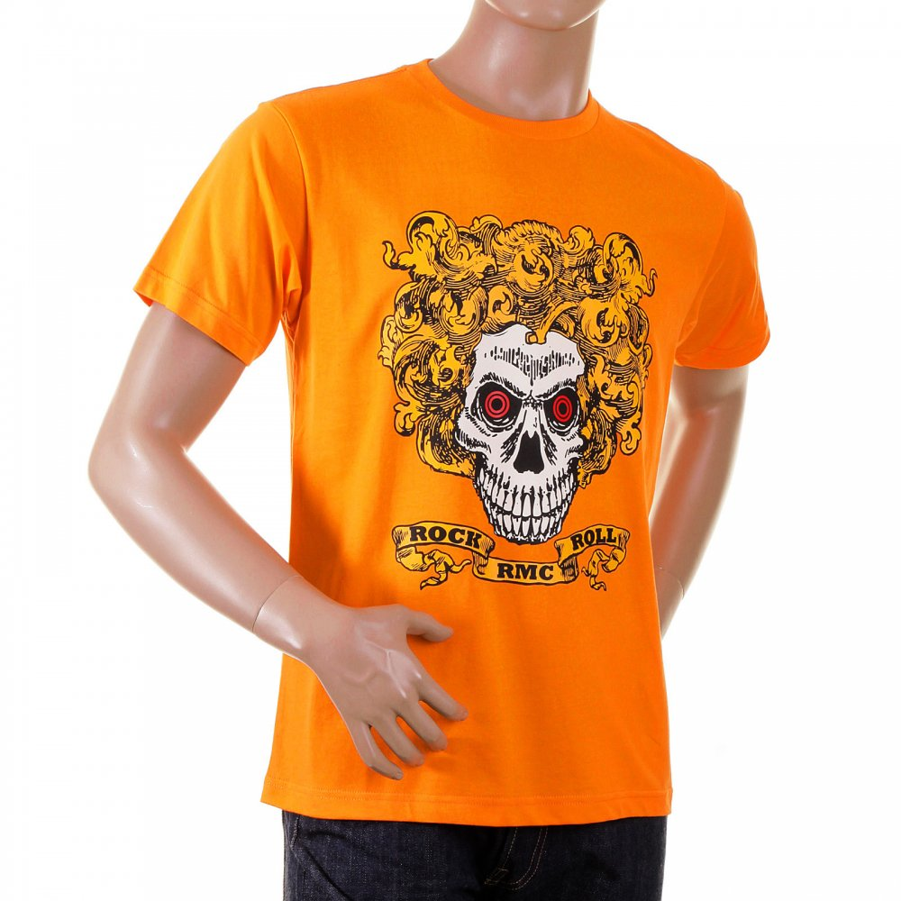 Rock and Roll Skull Printed Tee