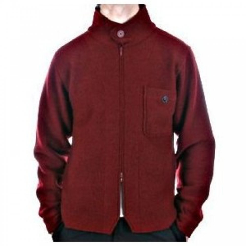 Zipped Red Knitwear from Massimo Osti