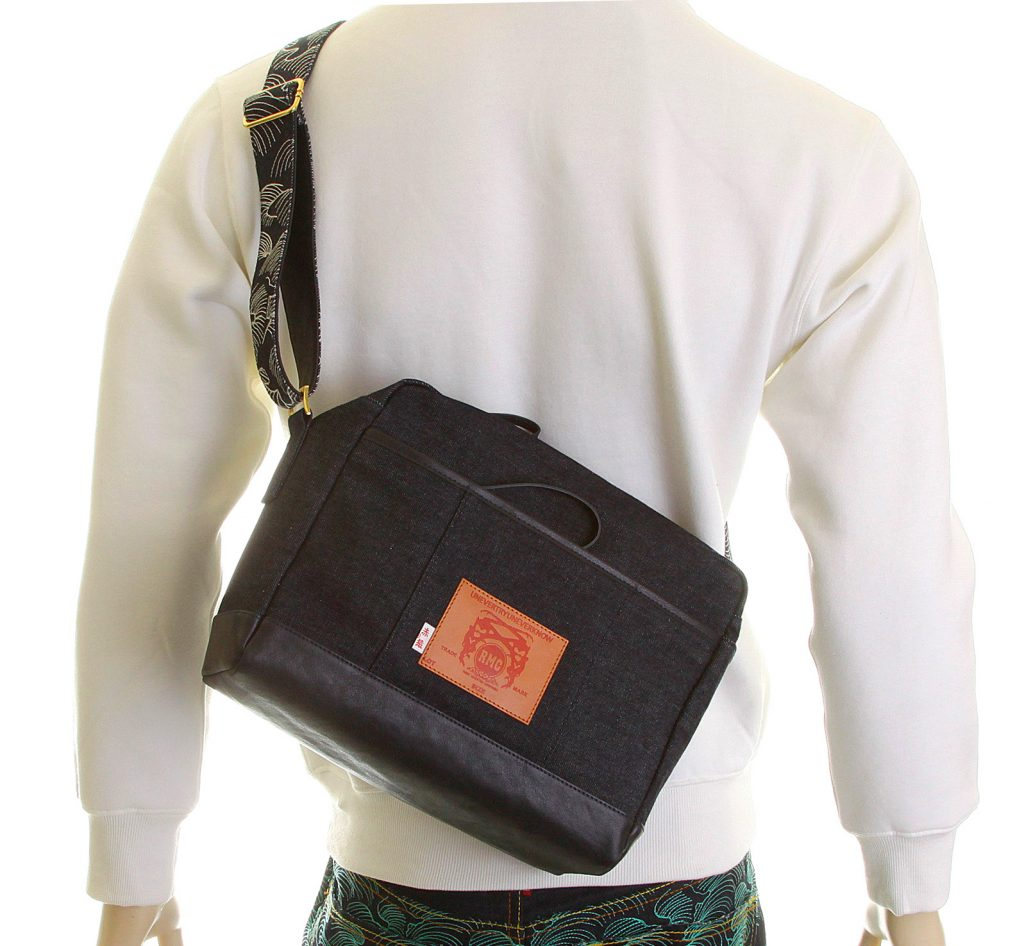 Denim and Leather bag