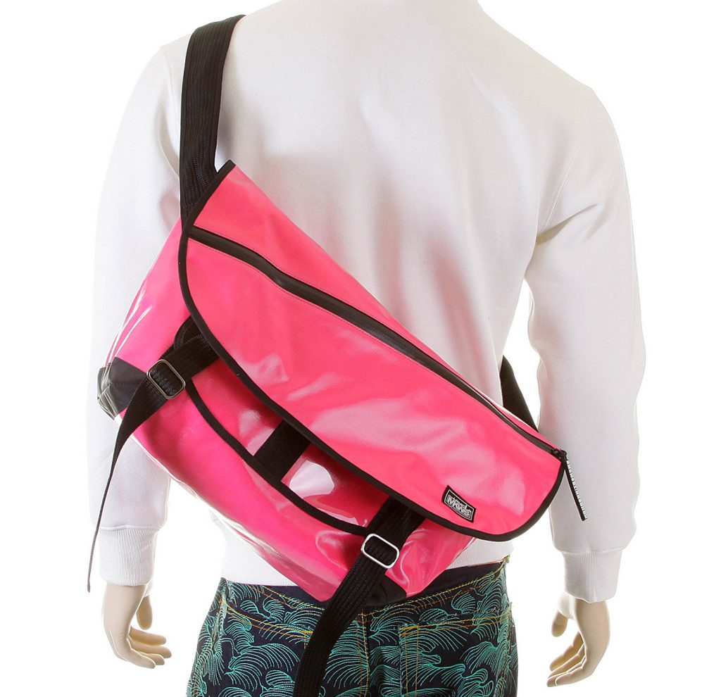 Pink Laminated Canvas bag