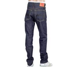4A Version 1 Regular Classic Slim Model Selvedge Raw Denim Jeans with Black Embroidery