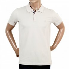 Mens Regular Fit Short Sleeve 100% Cotton Beige Hilton Polo Shirt