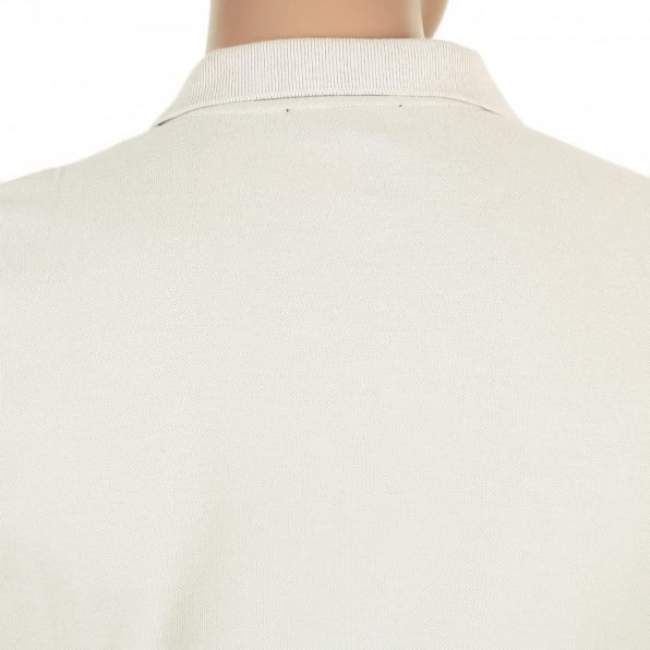 AQUASCUTUM Mens Regular Fit Short Sleeve 100% Cotton Beige Hilton Polo Shirt