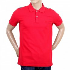 Mens Regular Fit Short Sleeve Red Polo Shirt