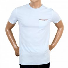 Mens Short Sleeve Crew Neck Regular Fit Light Blue T-Shirt