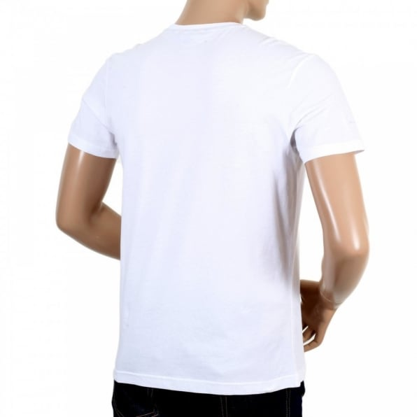AQUASCUTUM Mens White Brady Crew Neck Regular Fit Short Sleeve T-shirt