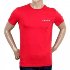 Red Short Sleeve Crew Neck Regular Fit T-Shirt for Men