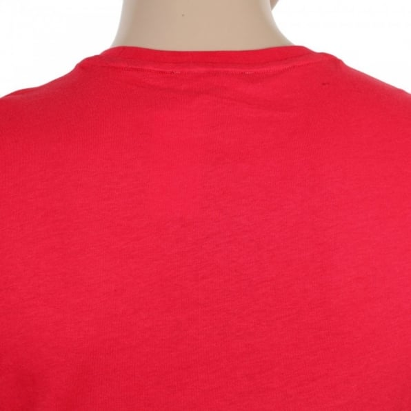 AQUASCUTUM Red Short Sleeve Crew Neck Regular Fit T-Shirt for Men