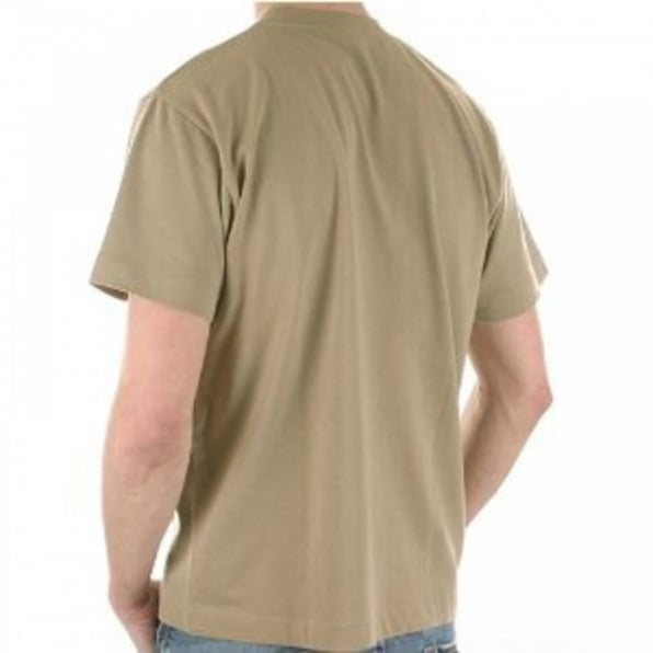 AQUASCUTUM Sand Coloured Short Sleeve T Shirt