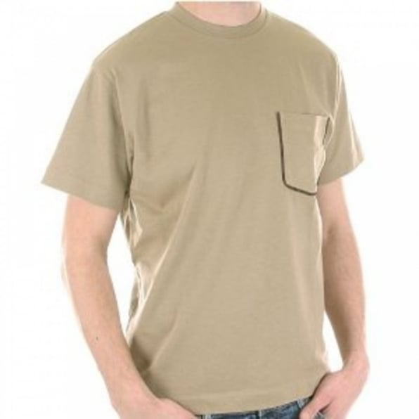 AQUASCUTUM Sand Coloured Short Sleeve T Shirt