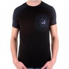 Black Crew Neck Short Sleeve Slim Fit T-Shirt