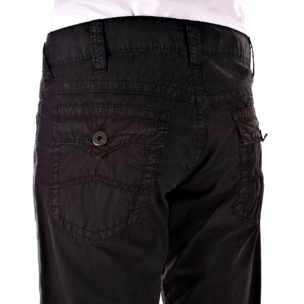 ARMANI JEANS Black Low Waist Relaxed Fit Bootleg Denim Jeans