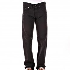 Black Low Waist Relaxed Fit Bootleg Denim Jeans