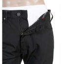 ARMANI JEANS Black Polyester Mix Stretch Classic Regular Fit Jean Shaped Trousers