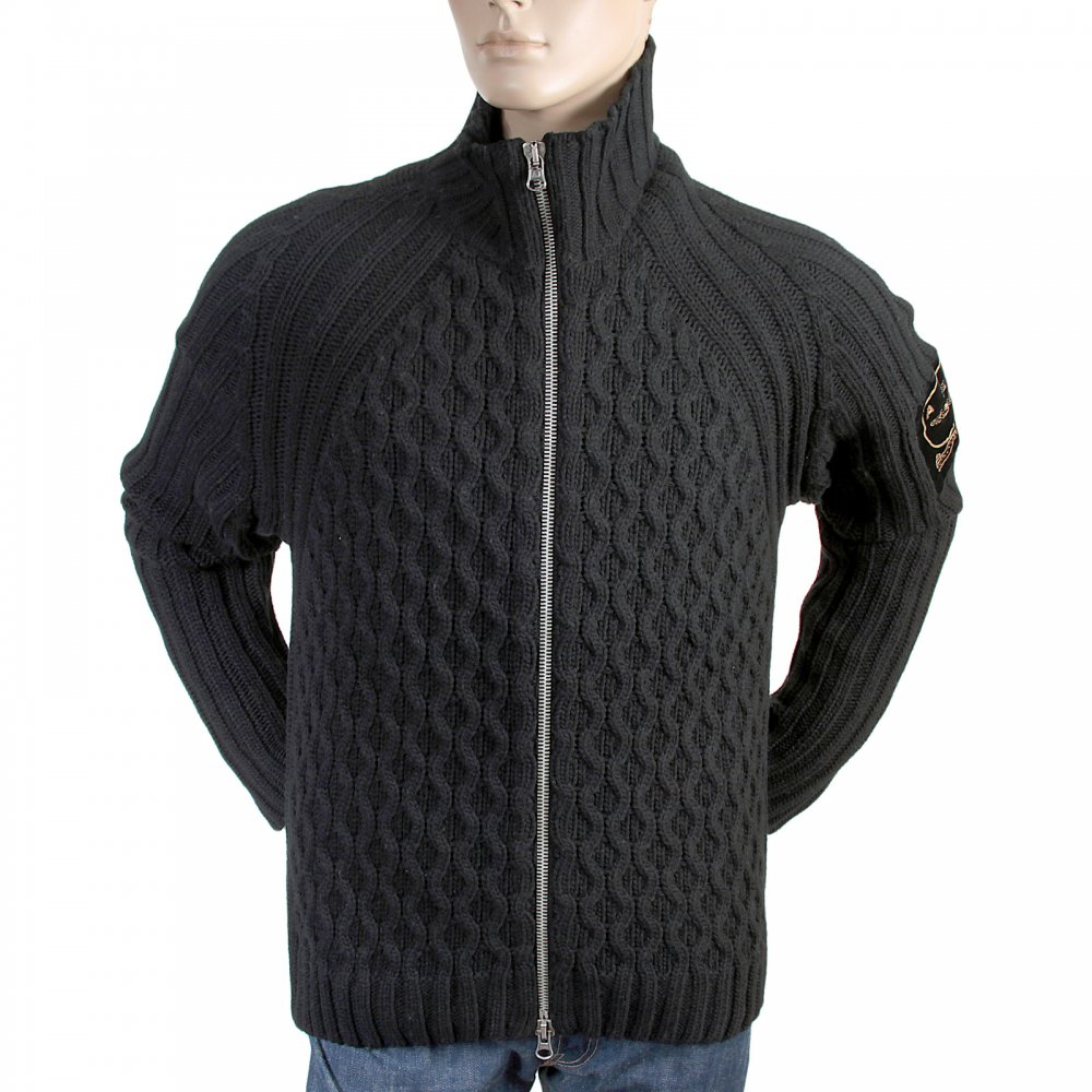Fashionable Mens Chunky Knit Cardigan by Armani Jeans at Niro Shop
