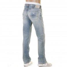 Bleached Vintage Finish Regular Fit Button Fly Regular Waist Denim Jeans