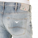 ARMANI JEANS Bleached Vintage Finish Regular Fit Button Fly Regular Waist Denim Jeans