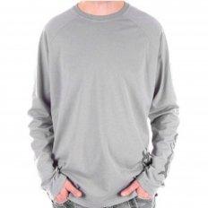 Blue Crew Neck Regular Fit Long Sleeve Eco Wash T-Shirt