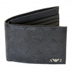Blue Double Bill Fold and Credit Card Wallet in Box