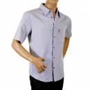 ARMANI JEANS Blue Short Sleeve Regular Fit Shirt