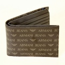 ARMANI JEANS Brown Double Bill Fold and Credit Card Wallet in Box