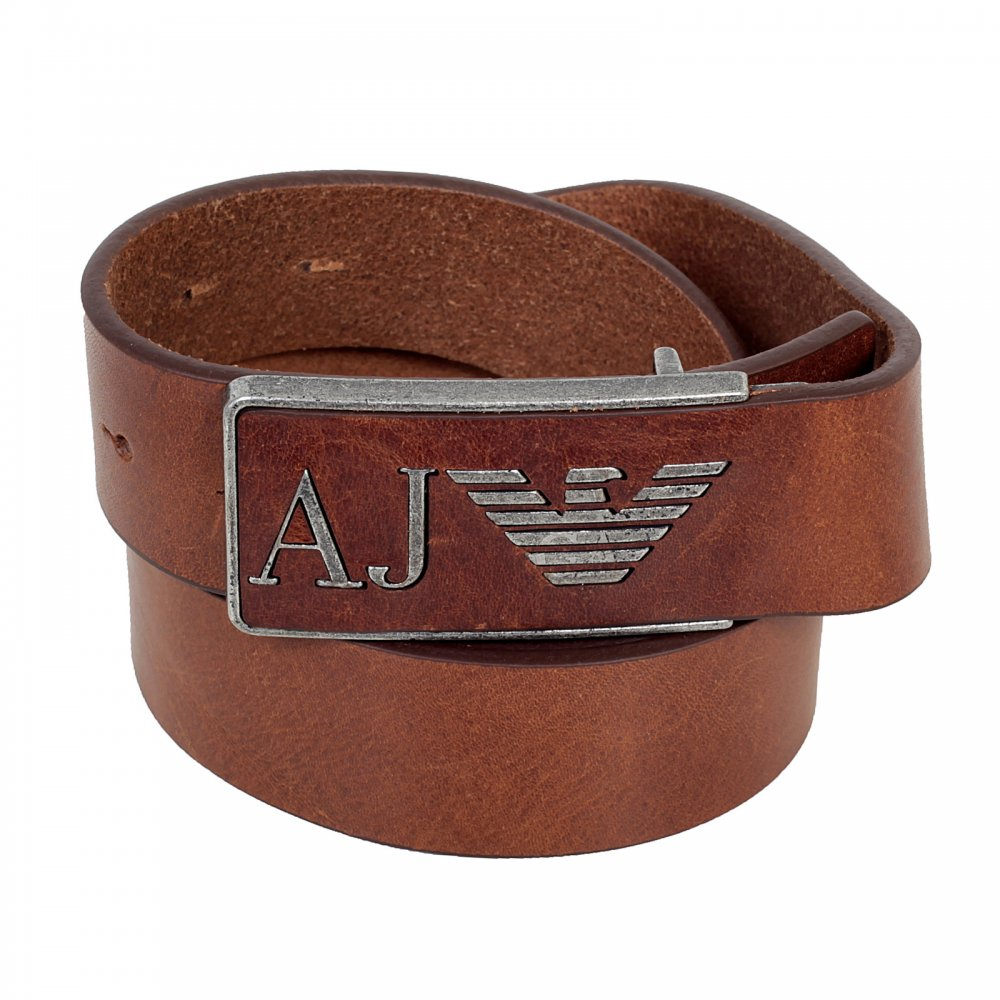 65469b90 Standout Style with Armani Jeans Brown Leather Belt on online shop