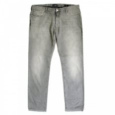 Buy Grey Stretch Cotton Low Waist Fitted Fit Jeans