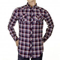 Crinkle Effect Woven Long Sleeve Fitted Check Shirt