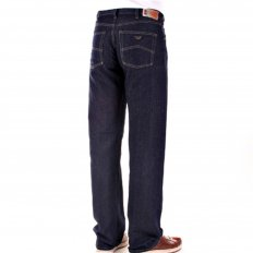 Dark Indigo Cotton and Linen Mix Lightweight Denim Jeans